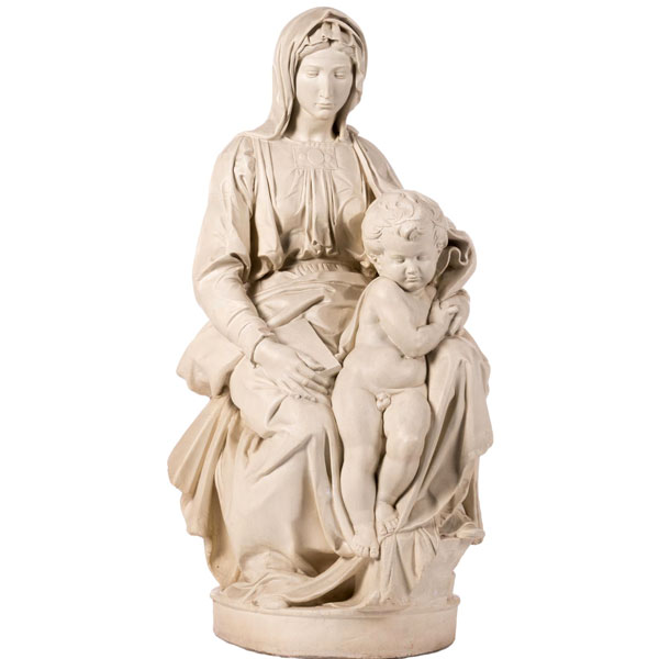 Michelangelo's madonna and child statues famous replica religious garden sculptures online TCH-72