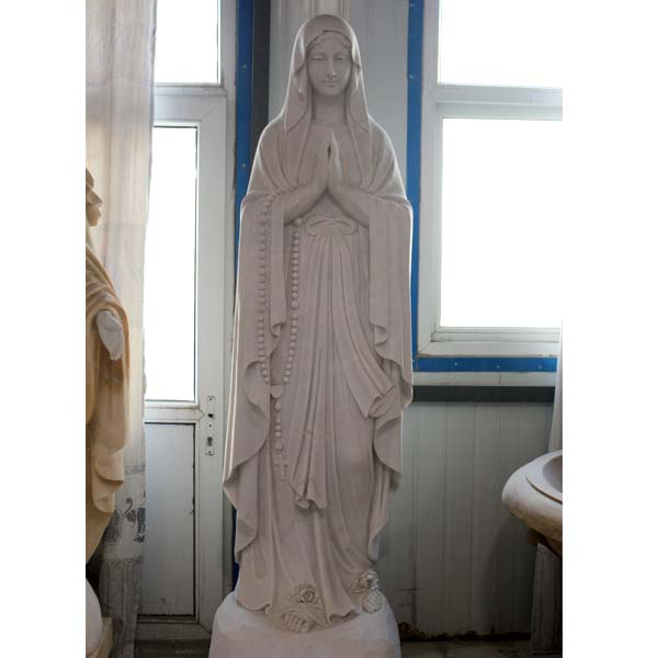 Beautiful virgi mary blessed lourdes mary life size religious garden statues for sale TCH-94