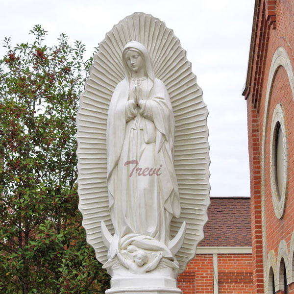 Buy white marble statue our lady of Guadalupe blessed virgin mary religious church statues online TCH-199