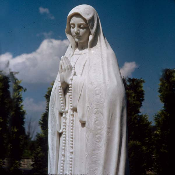 Catholic beautiful virgin mary blessed mother statue of lady fatima pilgrim for sale TCH-66