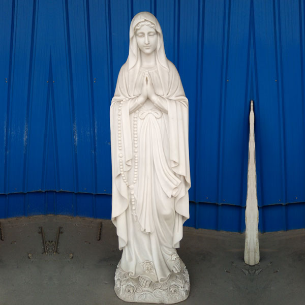 Beautiful mother mary our lady of lourdes rosary bead statues to buy TCH-95