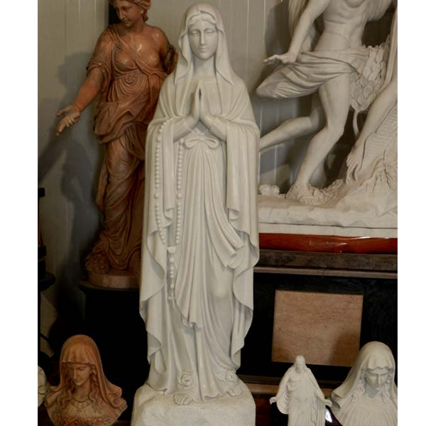 Beautiful virgin mary our lady of rosary blessed mother lourdes statues for outdoor church TCH-93