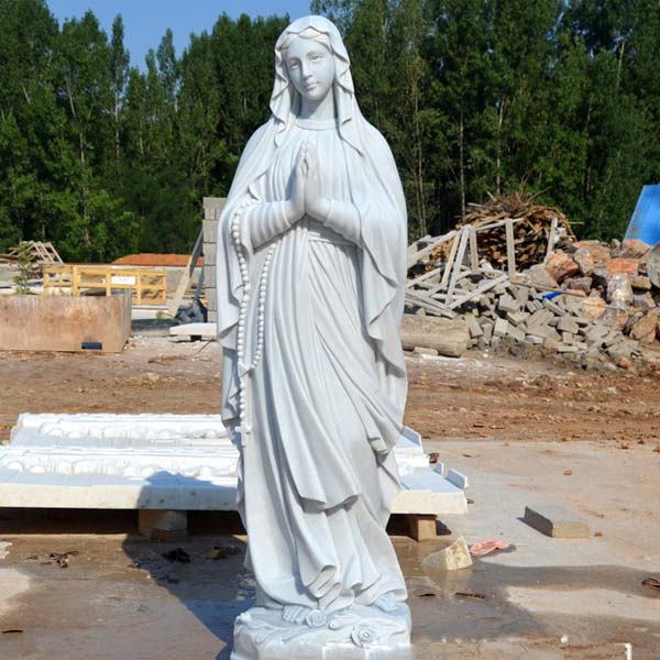 Outdoor beautiful virgin mary our lady of lourdes prayer statues for catholic church decor TCH-91