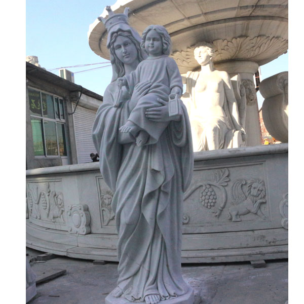 Vintage our lady of mt. carmel religious marble statues for sale TCH-87