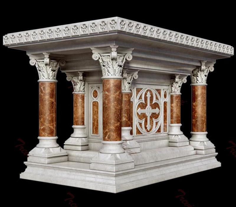 Buy modern luxury marble altar table design for church decoration