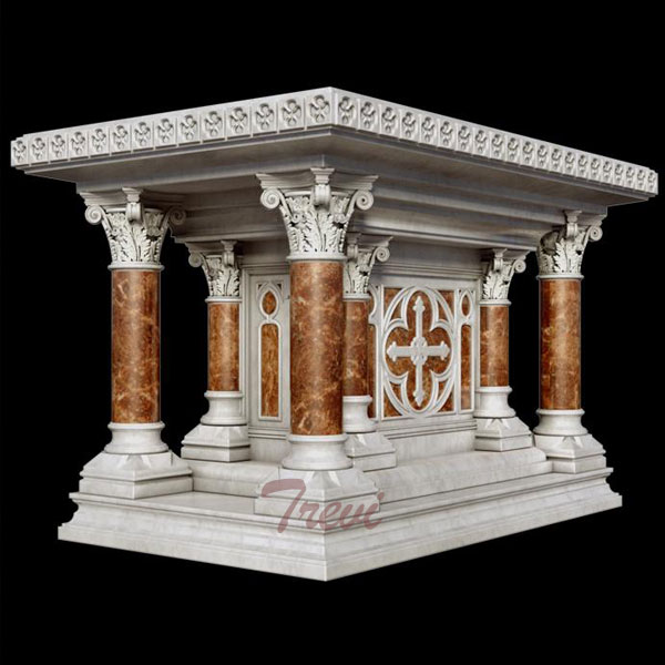 Buy modern luxury marble altar table designs for church decoration TCH-216