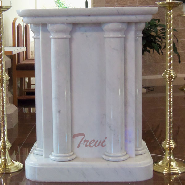 Buy used lecterns and pulpit white marble catholic church furniture for sale TCH-215