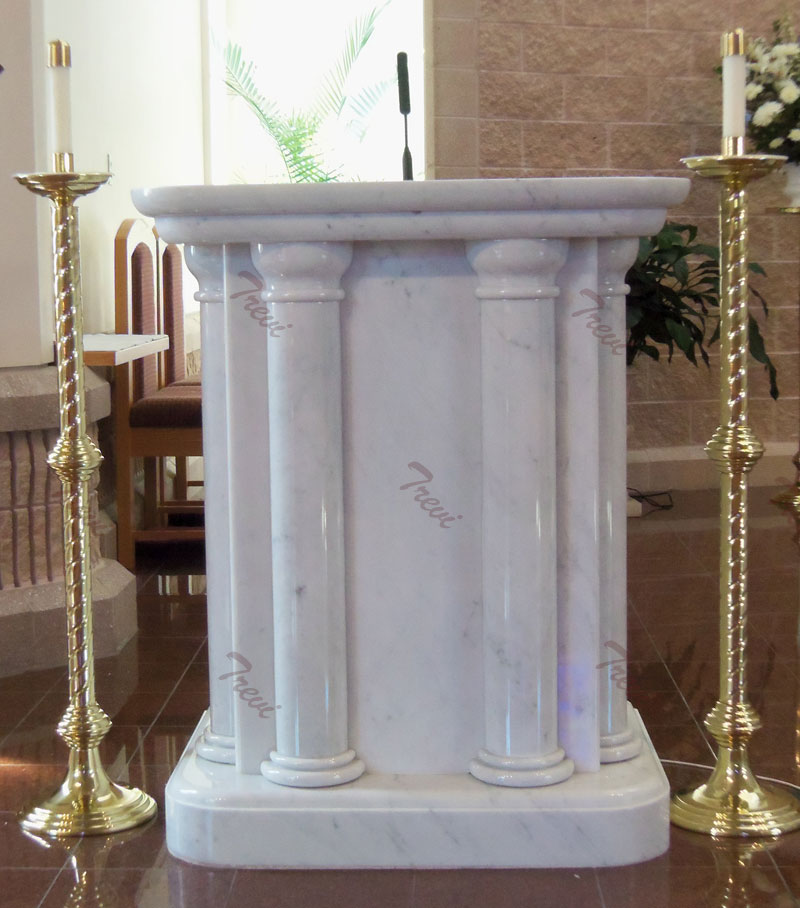 Buy used lecterns and pulpit white marble church furniture for sale