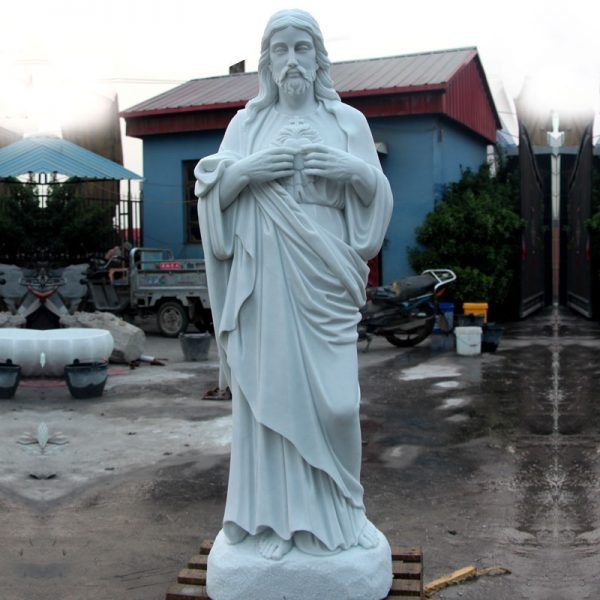 Caholic church garden decor sacred heart of jesus outdoor statue for sale TCH-08
