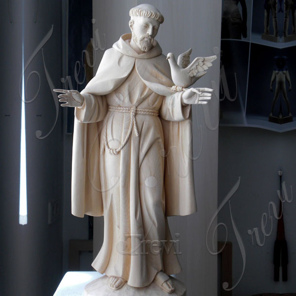 Caholic saint francis of assisi garden statue with doves patron saint for sales TCH-205