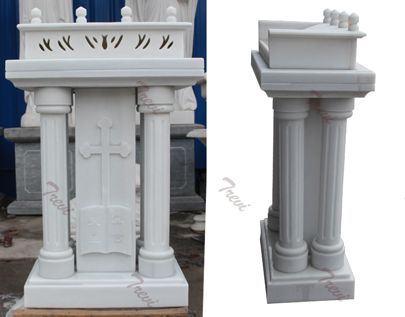 Catholic church furniture custom white marble pulpits podium designs manufacturers