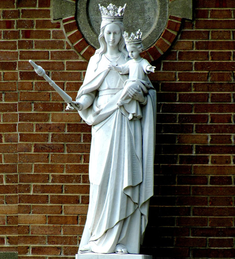 Catholic church our lady of mount carmel garden statue to buy