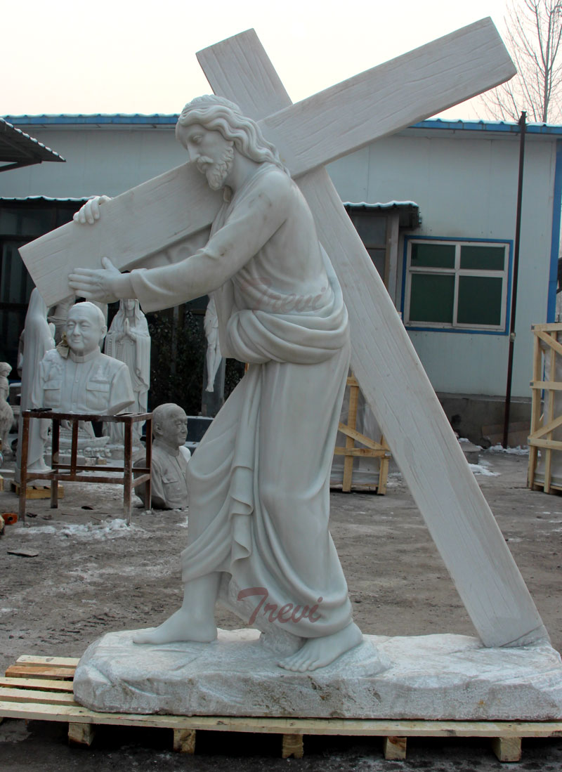 Catholic jesus carrying cross statue outdoor religious - Exterior church crosses for sale ...