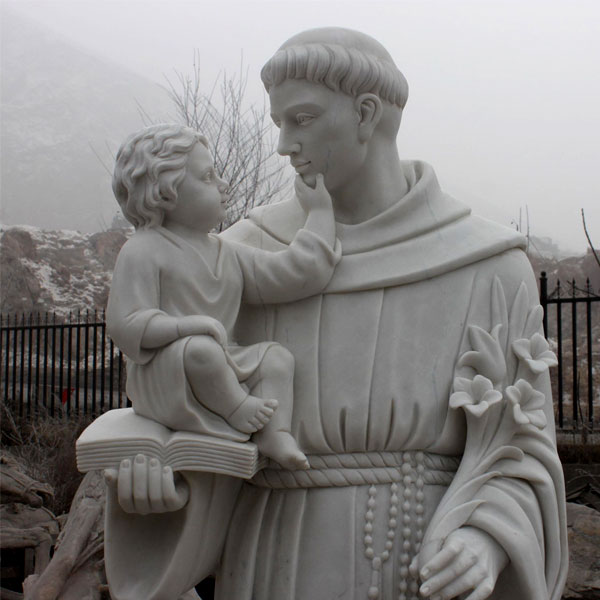 Catholic saint marble statues of Anthony outdoor for sale for churches TCH-44