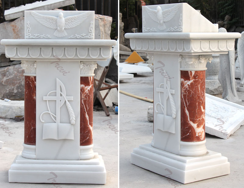 Classical church marble lecterns and pulpits furniture designs for sale