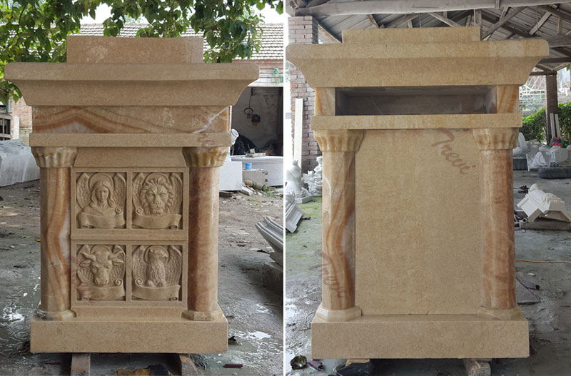 Custom antique beige marble church pulpits stand modern designs to buy