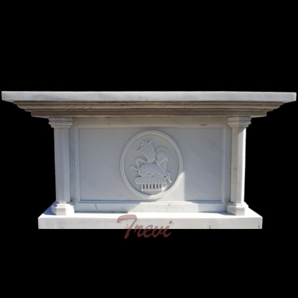 Custom made catholic church altars table white mable sculpture for sale TCH-220