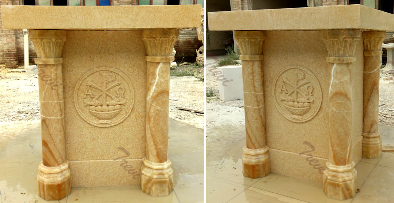 Factory supply hand carved contemporary custom marble church pulpits for sale