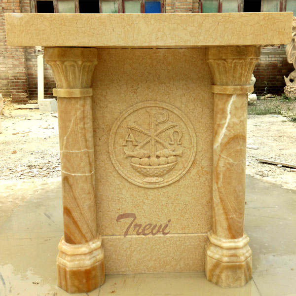 Factory supply hand carved contemporary marble church pulpits for sale TCH-218