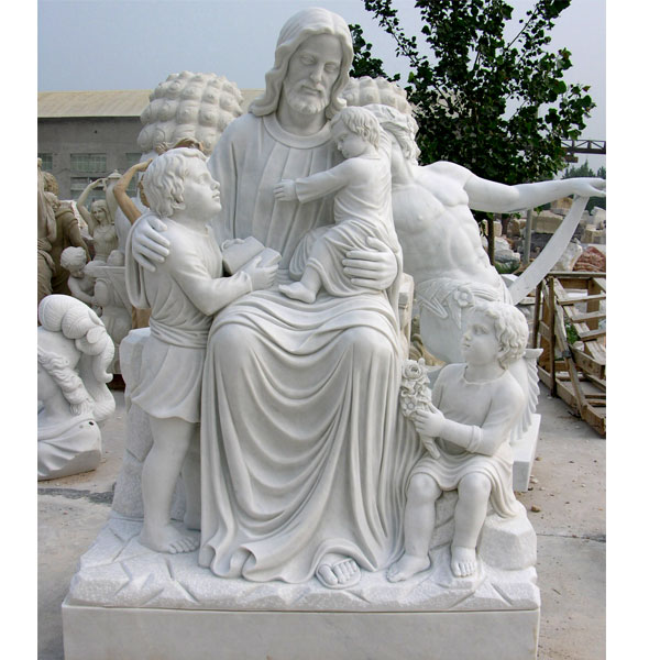 Jesus christ with children designs outdoor large caholic statues onlne sale TCH-13