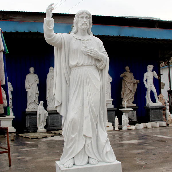 Life size large sacred heart of jesus christ sculpture factory directly supply TCH-07