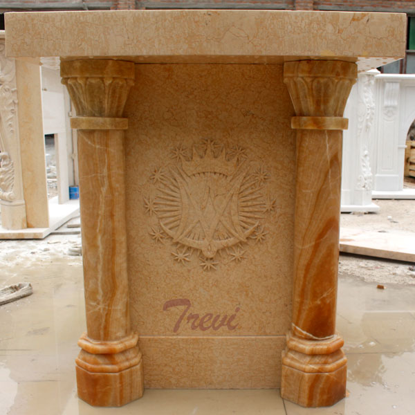 Modern beige marble custom pulpits furniture online sale TCH-217