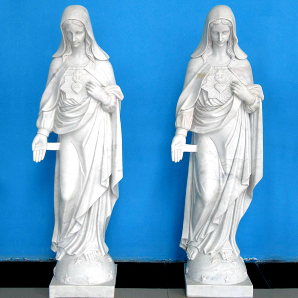 Our lady immaculate heart of mary outdoor garden statues online sale TCH-224