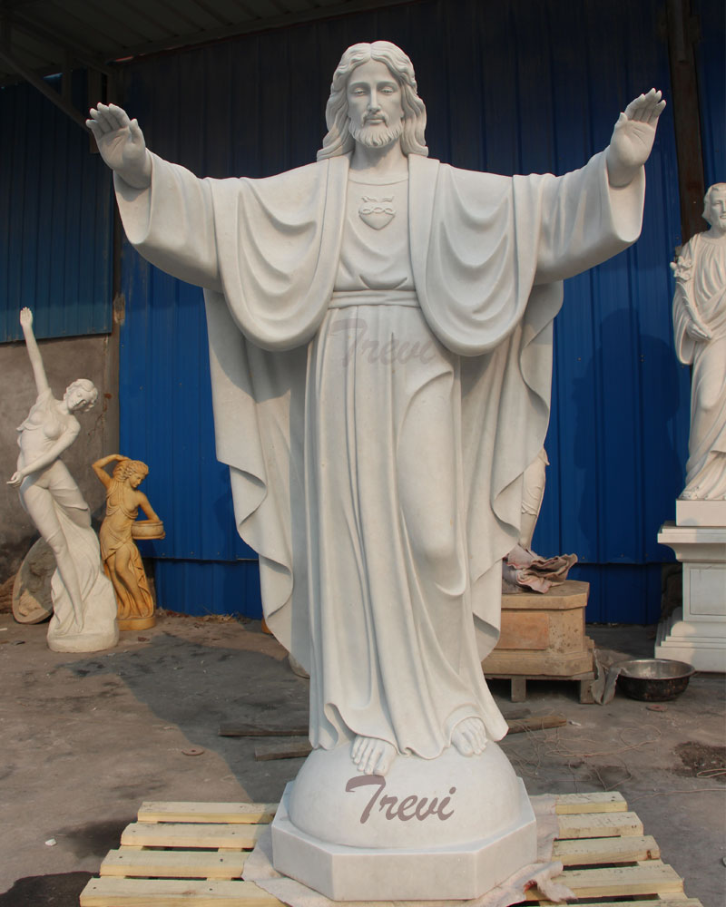 Outdoor religious garden statues sacred heart of jesus marble statue large beautiful