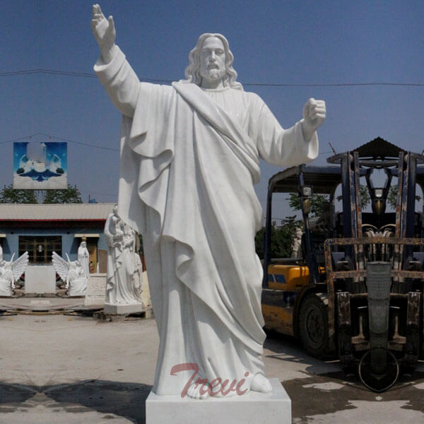 Religious outdoor garden marble statues of large christ Jesus for catholic church decor  TCH-49