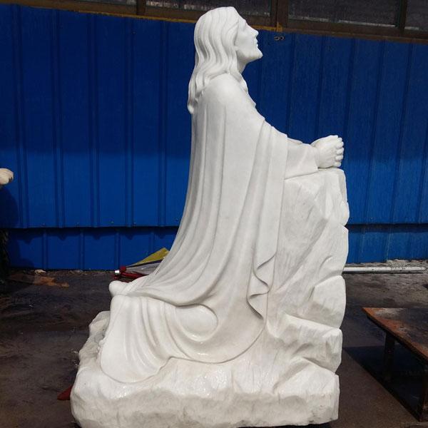 Christian jesus kneeling in the garden of Gethsemane prayer outdoor religious garden statues for sale TCH-15