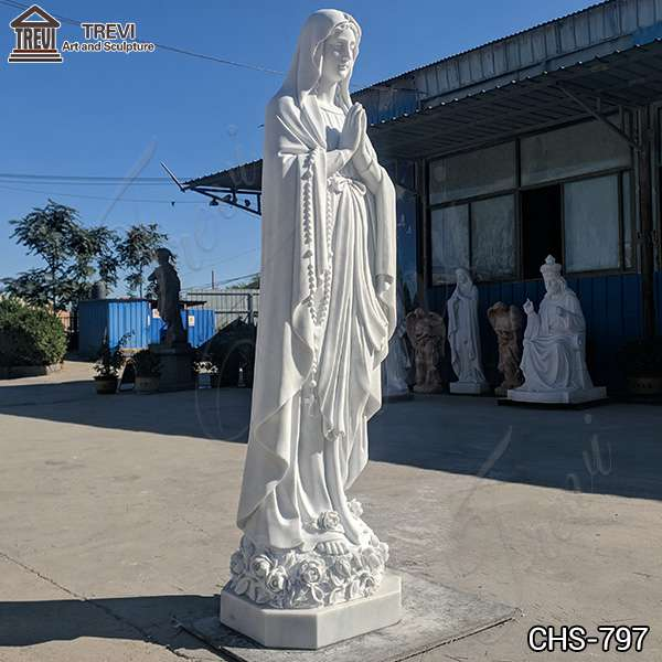 Vivid Marble Outdoor Our Lady of Lourdes Statue for Sale CHS-797