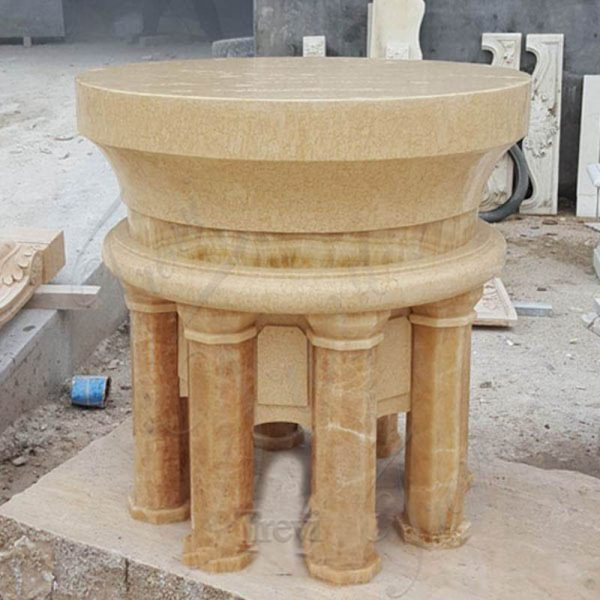 Customized Beige Marble Altar Table for Sale CHS-320