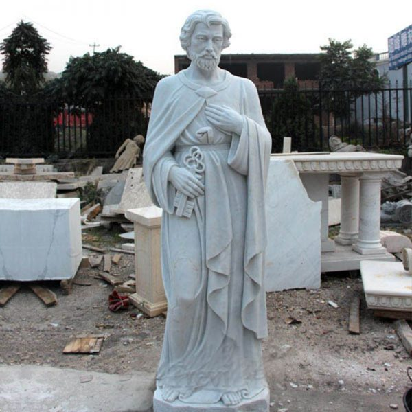 Marble Saint Peter Statue for Church Decoration for Sale CHS-251