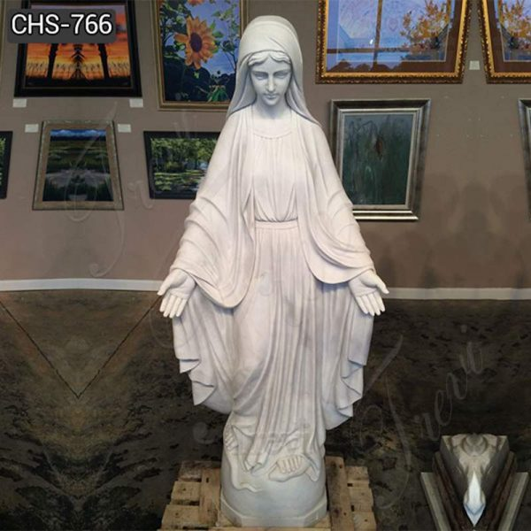 White Marble Our Lady of Grace Statue for Sale CHS-766