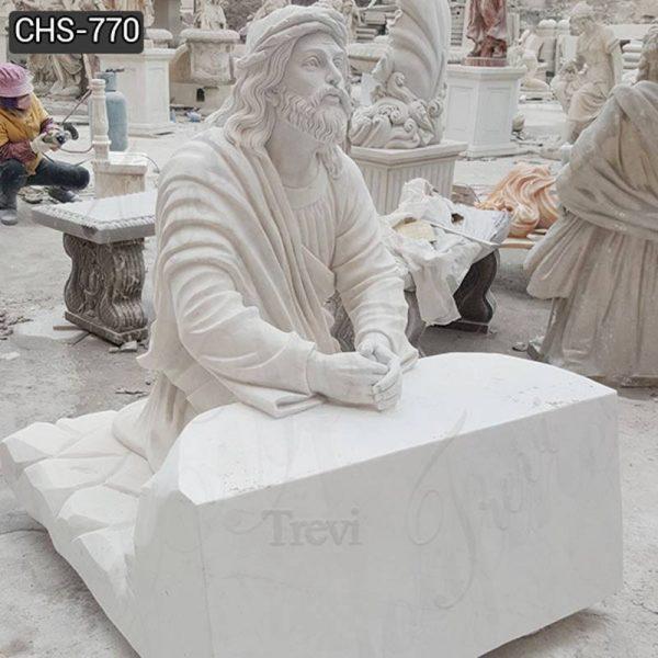 Marble Jesus Praying Statue Garden Church Decor for Sale CHS-770