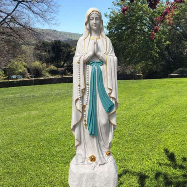 Life-Size Marble Our Lady of Lourdes Statue Church Decor for Sale CHS-818
