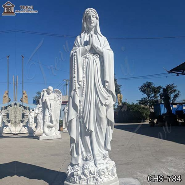 Life-Size Outdoor Marble Our Lady of Lourdes Statue for Sale CHS-784