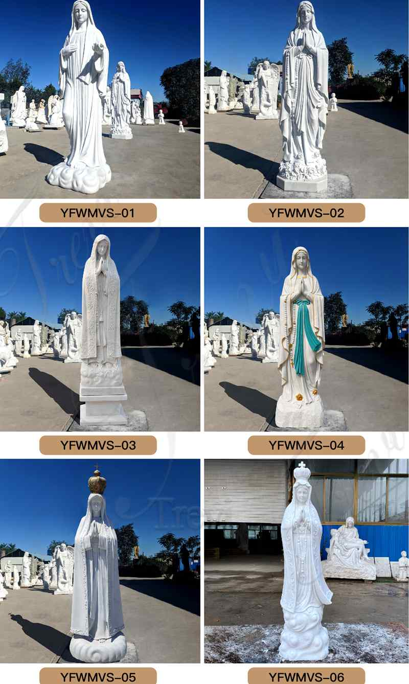 outdoor Our Lady of Lourdes statue,