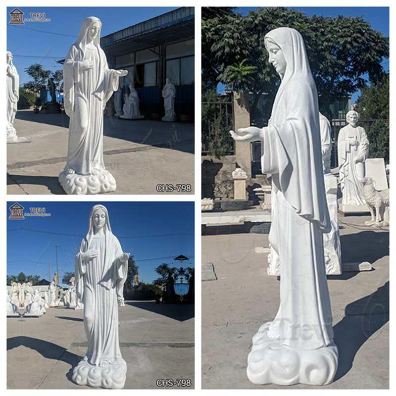 virgin mary outdoor statue